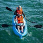 Couple kayaking in Galapagos Honeymoon